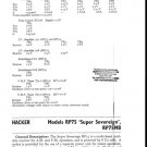 Hacker Super Sovereign RP75 Service Manual mts#229