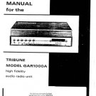 Hacker Tribune GAR1000A Service Manual Schematics. mts#231