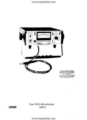 Racal 9301A Service Manual. Mauritron#349