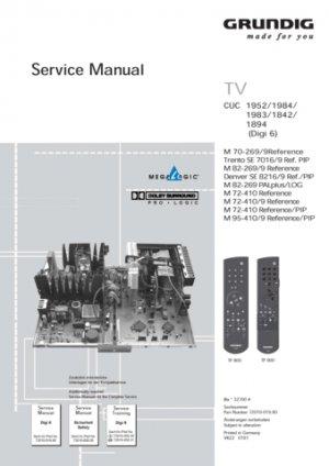 Grundig CUC-1894 Chassis Service Manual. Mauritron #701
