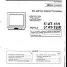 Sharp 51AT15H Service Manual. Mauritron #788