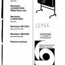 B & O Beovision LX5500 39xx Manual. Mauritron #989