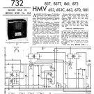 Marconi 873 Service Schematics. Mauritron #1046