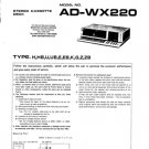 Aiwa AD-WX220 Service Manual. Mauritron #1118