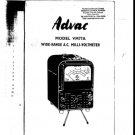 Advance VM77AInstructions Schematics. Mauritron #1161