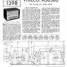 Philco A3658 Trader Service Schematics. Mauritron #1197