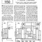 Philco A3672U Trader Schematics. Mauritron #1199