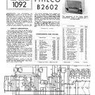 Philco B2602 Trader Service Schematics. Mauritron #1203