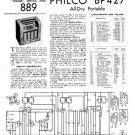 Philco BP427 Trader Service Schematics. Mauritron #1210