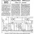 Mullard MAS221 Service Schematics. Mauritron #1215