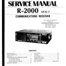 Kenwood R2000 Service Manual. Mauritron #1244