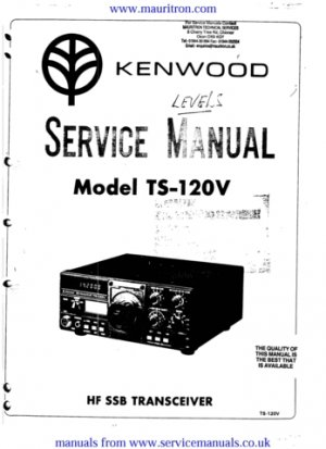 Kenwood TS120V Service Manual. Mauritron #1268