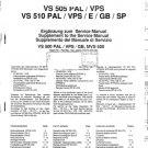 Grundig VS510 xx Service Manual. Mauritron #1509