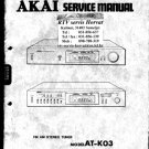 Akai ATK03 Service Manual. Mauritron #1556