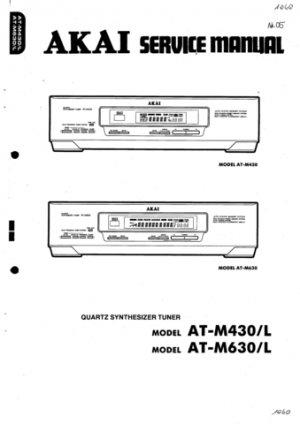 Akai ATM430 Service Manual. Mauritron #1558