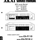 Akai CSF210 Service Manual. Mauritron #1570