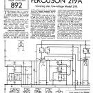 Ferguson 219L Service Information. Mauritron #1707