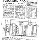 Ferguson 350 Service Information. Mauritron #1750