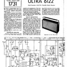 Ultra 6122 Vintage Service Schematics. Mauritron #1772