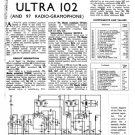 Ultra 97 Vintage Service Schematics. Mauritron #1781