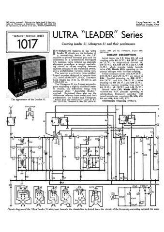 Ultra ULTRAGRAM 51 Service Schematics. Mauritron #1821