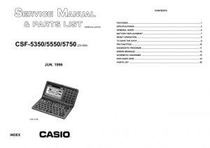 Casio CSF5550 Service Manual Mauritron #2307