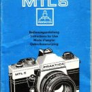Praktica MTL5 Operating Guide Mauritron #2479