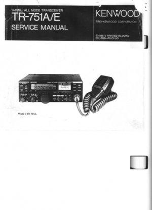 Kenwood TR751 Service Manual Mauritron #2536