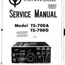 Kenwood TS700G Service Manual Mauritron #2543