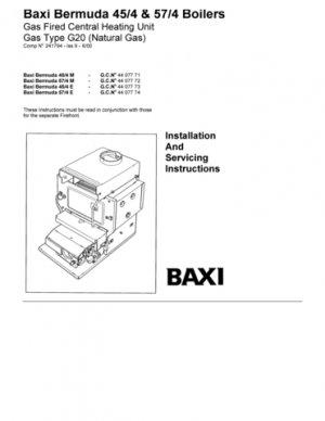 Baxi BERMUDA 57-4 E GCNO.44-077-74  Mauritron #2562