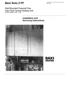 Baxi SOLO 2   70PF GCNO.41-075-01  Mauritron #2624