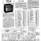 Philips 523UB Service Schematics. Mauritron #3222