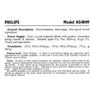 Philips AG4049 Service Schematics. Mauritron #3243