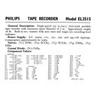 Philips EL3515 Service Schematics. Mauritron #3254