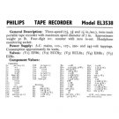Philips EL3538 Service Schematics. Mauritron #3255