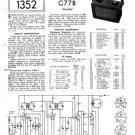 Philips G77B Service Schematics. Mauritron #3263
