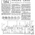 Philips G85U Service Schematics. Mauritron #3264