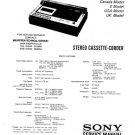 Sony TC136SD Service Manual. Mauritron #3349