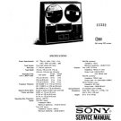 Sony TC366 Service Manual. Mauritron #3352