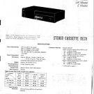 Sony TCFX20 Service Manual. Mauritron #3358