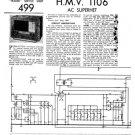 HMV 1106 Vintage Service Schematics Mauritron #3391