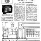 HMV 1117 Vintage Service Schematics Mauritron #3394