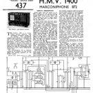 HMV 1400 Vintage Service Schematics Mauritron #3418