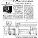 HMV 1501 Vintage Service Schematics Mauritron #3427