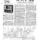 HMV 166 Vintage Service Schematics Mauritron #3440