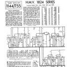 HMV 1825 Vintage Service Schematics Mauritron #3442