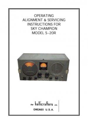 Hallicrafters S20R Schematics etc. Mauritron #3463