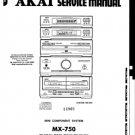 Akai MX750 Service Manual. Mauritron #3519