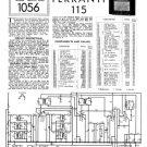 Ferranti 115 Service Schematics. Mauritron #3720