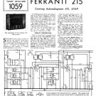 Ferranti 215 Service Schematics. Mauritron #3733